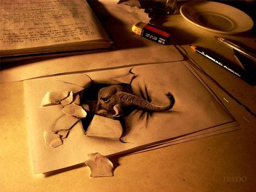 Utero - Tranh 3D vẽ bằng bút chì
