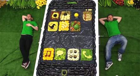 iPhone 5 từ rau quả