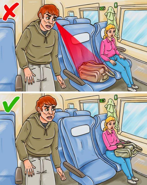 Hãy đề phòng những người di chuyển quá nhanh trên các phương tiện giao thông công cộng