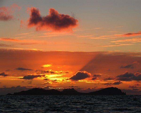 Đám mây đỏ rực nhìn gần giống một chú cá
