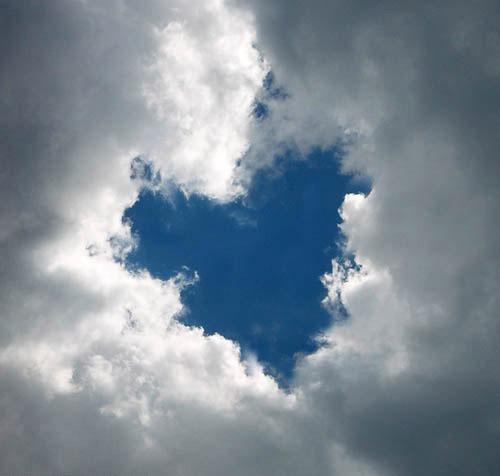 Đám mây hình trái tim