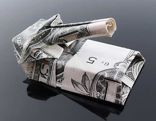 Origami - Những cách gấp tiền sáng tạo (19)