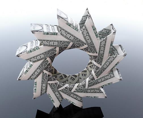 Origami - Những cách gấp tiền sáng tạo (17)
