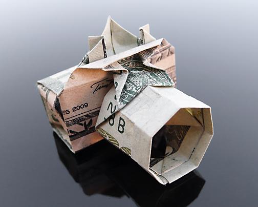 Origami - Những cách gấp tiền sáng tạo (16)