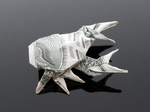 Origami - Những cách gấp tiền sáng tạo (10)