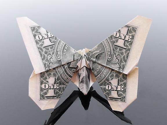 Origami - Những cách gấp tiền sáng tạo (26)