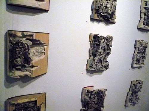 Độc đáo nghệ thuật cắt sách 3D Nhật Bản (15)