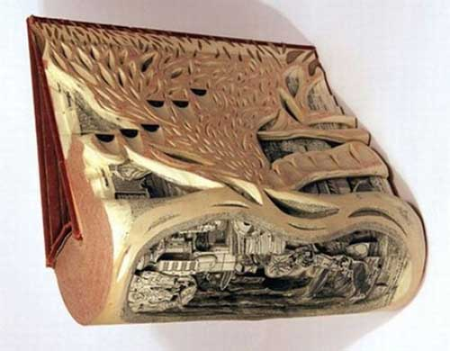 Độc đáo nghệ thuật cắt sách 3D Nhật Bản (6)