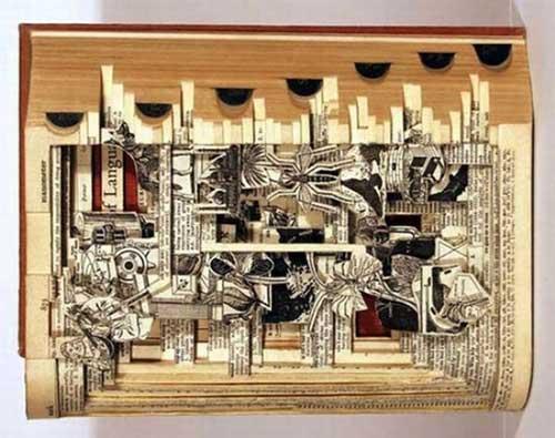 Độc đáo nghệ thuật cắt sách 3D Nhật Bản (5)
