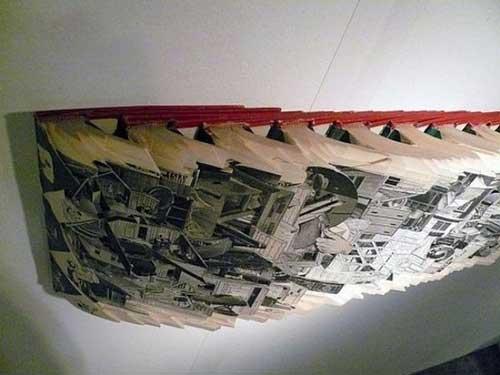 Độc đáo nghệ thuật cắt sách 3D Nhật Bản (3)