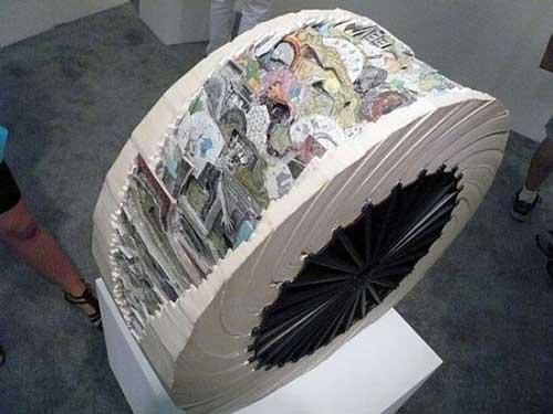 Độc đáo nghệ thuật cắt sách 3D Nhật Bản (2)