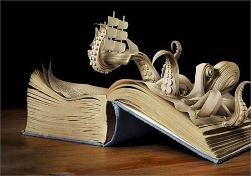 Độc đáo nghệ thuật cắt sách 3D Nhật Bản (14)
