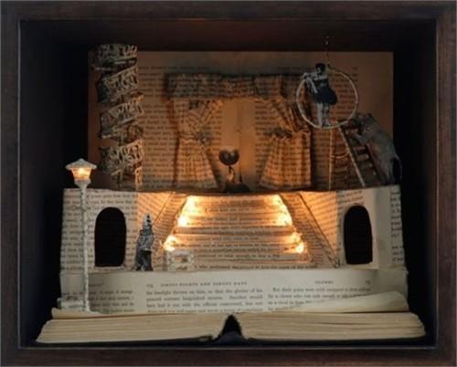 Độc đáo nghệ thuật cắt sách 3D Nhật Bản (11)