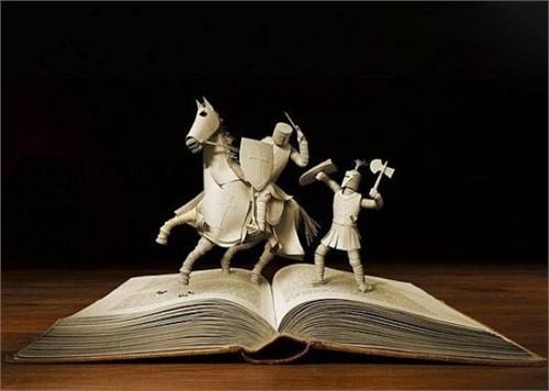 Độc đáo nghệ thuật cắt sách 3D Nhật Bản (10)