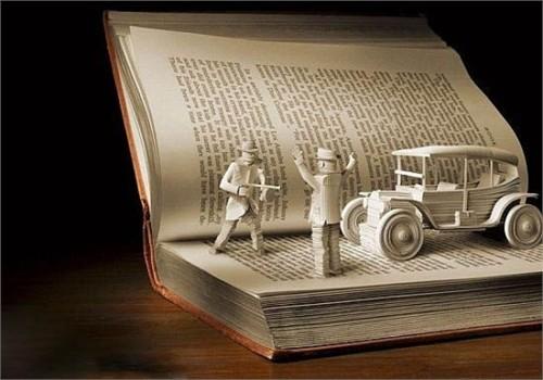 Độc đáo nghệ thuật cắt sách 3D Nhật Bản (9)