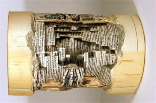 Độc đáo nghệ thuật cắt sách 3D Nhật Bản (8)