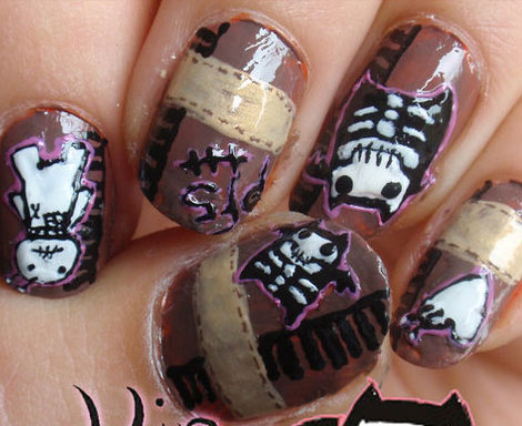 nail, kinh di, mong tay, halloween, le hoi halloween, (10)