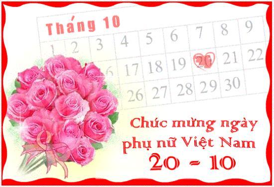 Ngày 20-10 hàng năm là ngày kỷ niệm, tôn vinh Phụ nữ Việt Nam
