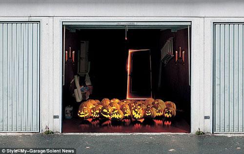 Những bức ảnh dán cửa 3D rùng rợn | Rung ron | kinh di | halloween (12)