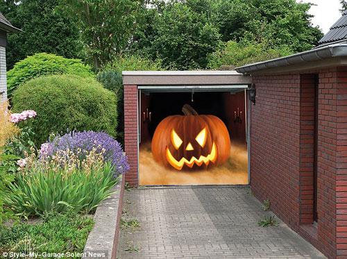 Những bức ảnh dán cửa 3D rùng rợn | Rung ron | kinh di | halloween (11)