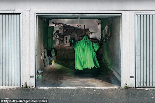 Những bức ảnh dán cửa 3D rùng rợn | Rung ron | kinh di | halloween (10)