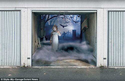 Những bức ảnh dán cửa 3D rùng rợn | Rung ron | kinh di | halloween (1)