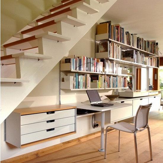 15 ý tưởng tận dụng không gian gầm cầu thang | sang tao | tan dung khong gian song (9)