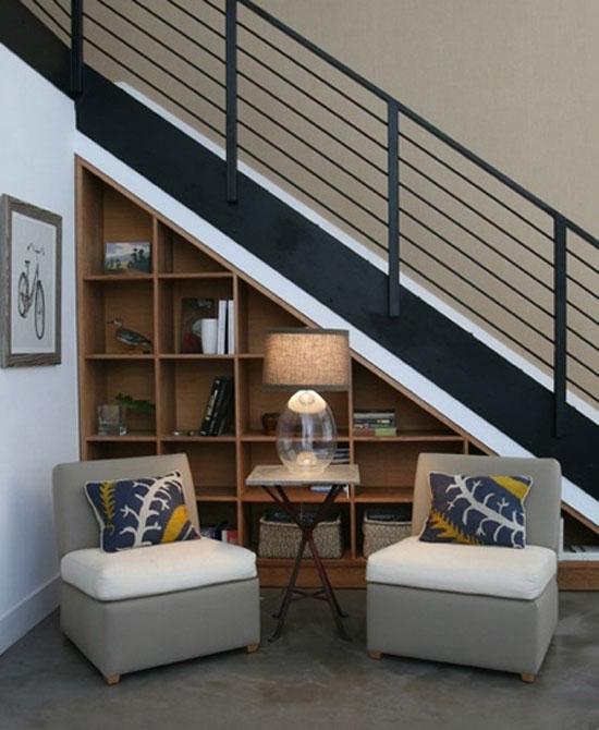 15 ý tưởng tận dụng không gian gầm cầu thang | sang tao | tan dung khong gian song (8)