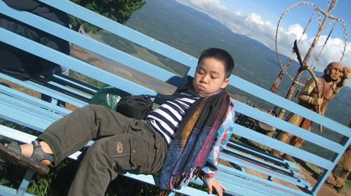 Tác giả nhí Nguyễn Bình - Ảnh: Kim Ngọc
