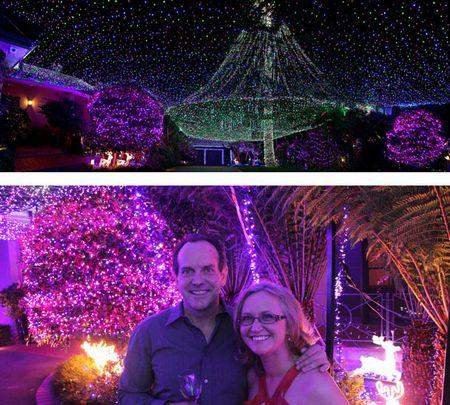 David và Janean Richards được trao kỷ lục trang trí nhà bằng nhiều đèn Giáng sinh nhất