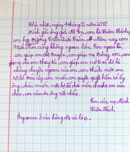 Thư trẻ em gửi ông già Noel (2)