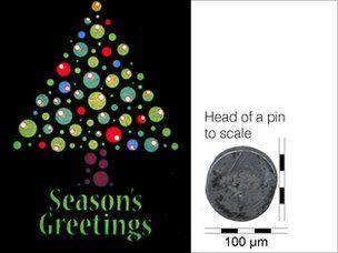 Tấm thiệp Giáng sinh nhỏ nhất thế giới