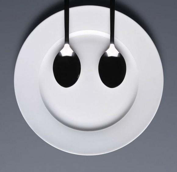 Sáng tạo vui vui từ... thìa và đĩa (11)