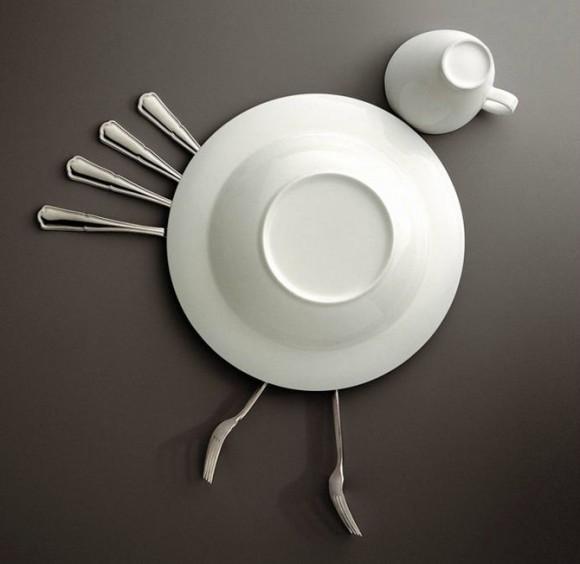 Sáng tạo vui vui từ... thìa và đĩa (8)