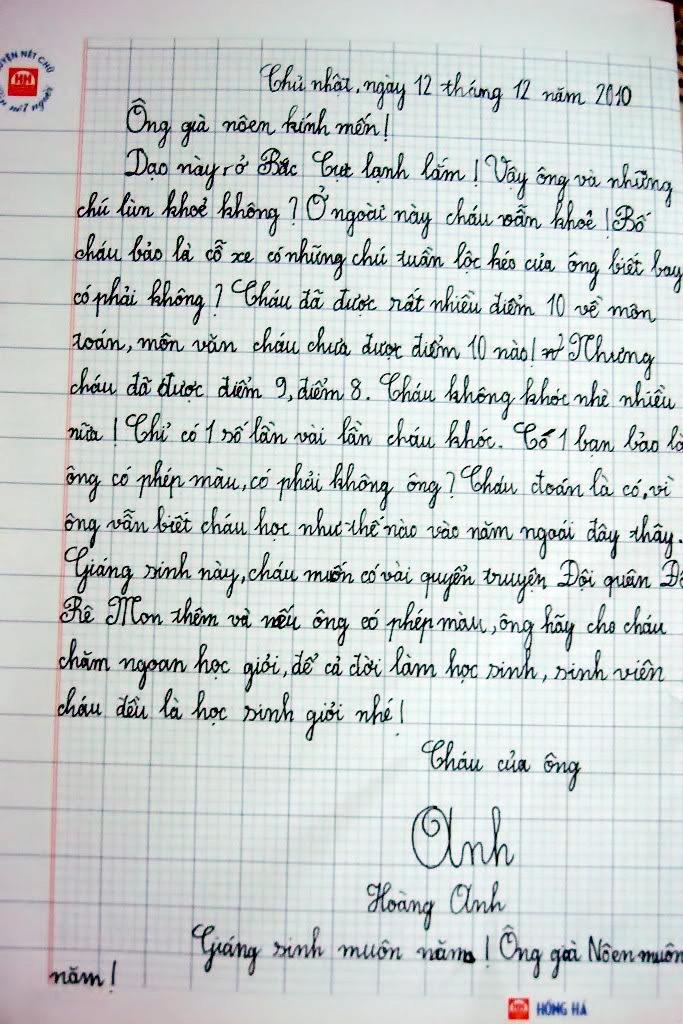 Thư trẻ em gửi ông già Noel (7)