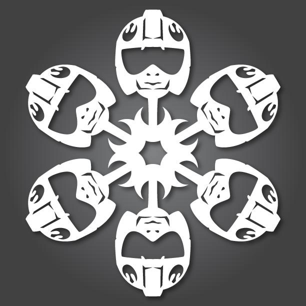 """""""Chế"""" bông tuyết theo phong cách Star Wars (9)"""