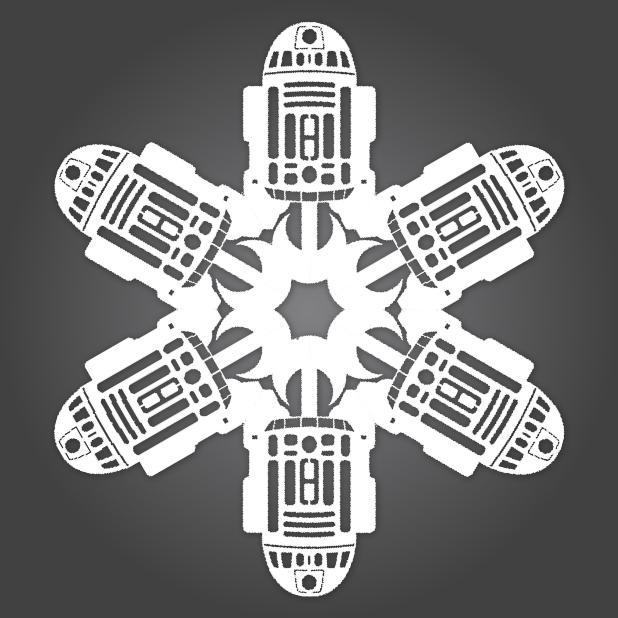 """""""Chế"""" bông tuyết theo phong cách Star Wars (8)"""