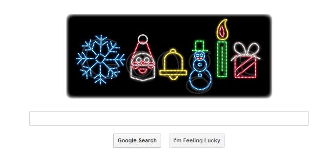 Logo Google hôm nay 23-12-2011: lời chúc mừng Giáng sinh !