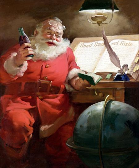 Hình ảnh ông già Noel trong một chiến dịch quảng cáo của Coca-Cola năm 1951
