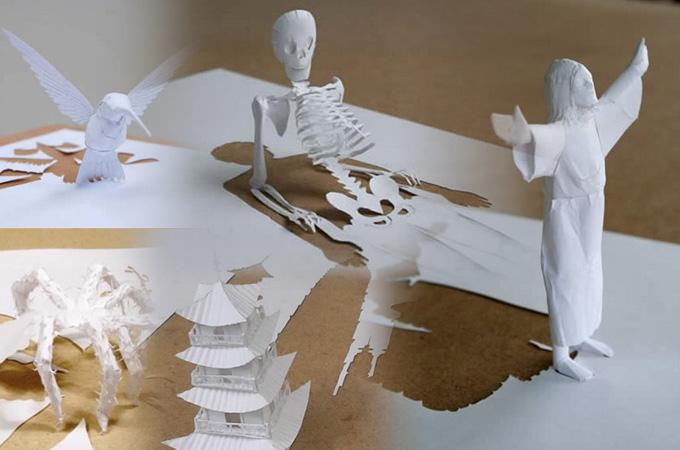 Những tác phẩm ma thuật từ giấy A4 | Độc đáo | sáng tạo | 3D (19)