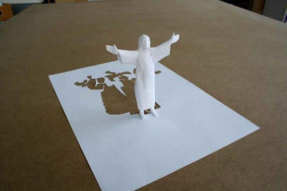 Những tác phẩm ma thuật từ giấy A4 | Độc đáo | sáng tạo | 3D (7)