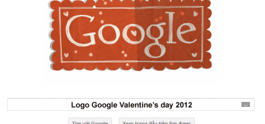 Logo Google 14-02-2012: Happy Valentine's Day 2012
