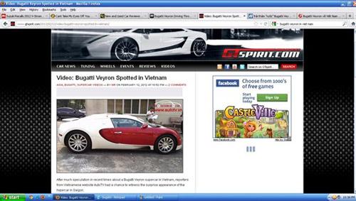Báo nước ngoài xôn xao sự kiện Bugatti Veyron về Việt Nam