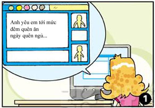 Tóc vàng hoe và tình yêu online
