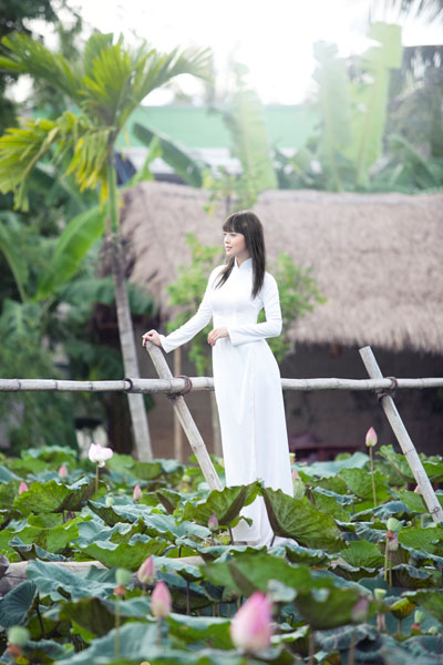 Ảnh đẹp: Áo dài - vẻ đẹp của phụ nữ Việt (4)