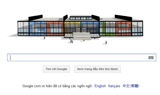 Logo Google hôm nay: kỷ niệm sinh nhật lần thứ 126 của Ludwig Mies van der Rohe | logo google 27-03-2012 | logo google today | logo google hom nay |