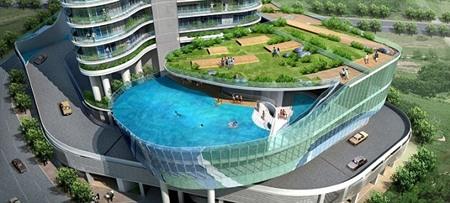 Bể bơi ban công