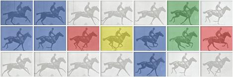 Logo Google hôm nay 09-04-2012: Kỷ Niệm 182 Năm Ngày Sinh Nhà Nhiếp Ảnh Eadweard J. Muybridge