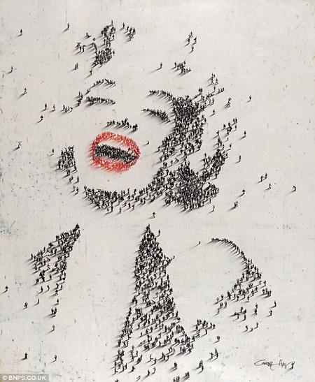 """Hình ảnh quen thuộc của """"biểu tượng sex"""" Marylin Monroe…"""