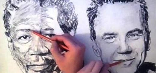 Bái phục tài vẽ tranh hai tay cùng lúc của XiaonanSun